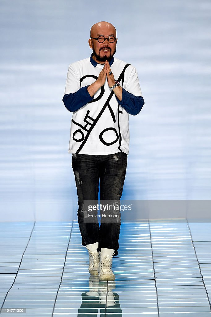 Fashion designer Lie sang bong walks the runway at the LIE SANGBONG Spring-Summer 2015 Collection during Mercedes-Benz Fashion Week Spring 2015 at The Salon at Lincoln Center on September 6, 2014 in New York City.