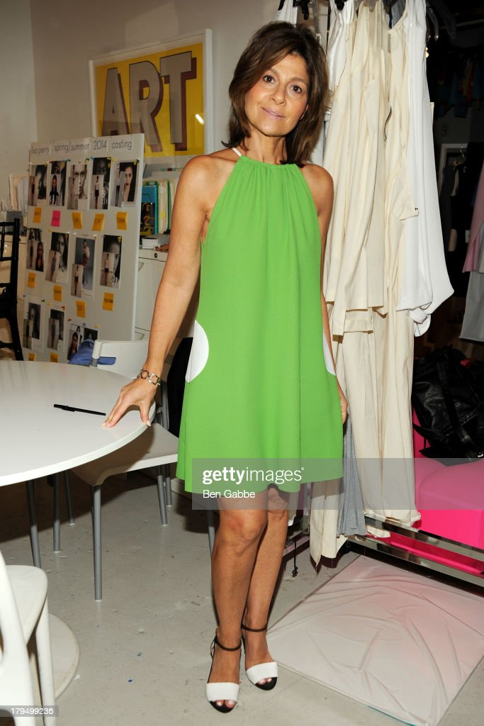Fashion designer Lisa Perry attends the Lisa Perry presentation during Mercedes-Benz Fashion Week Spring 2014 on September 4, 2013 in New York City.