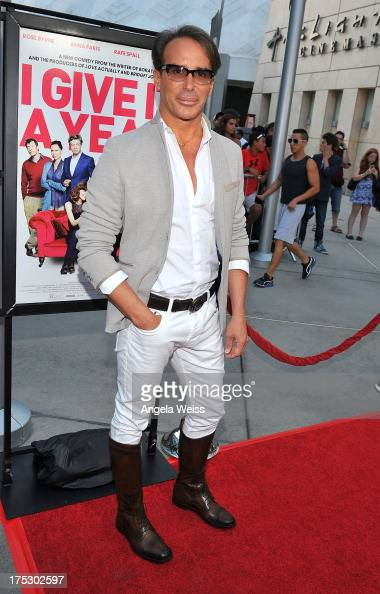 Fashion designer Lloyd Klein arrives at the Screening of Magnolia Pictures' 'I Give It A Year' at ArcLight Hollywood on August 1 2013 in Hollywood...