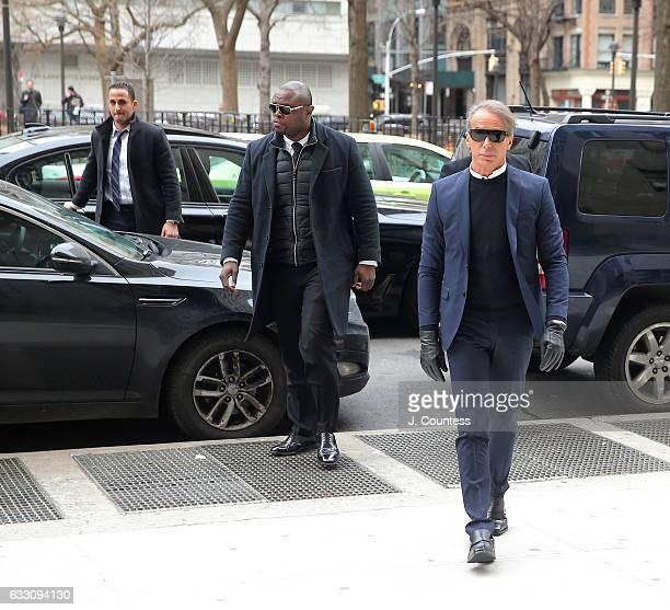 Fashion designer Lloyd Klein arrives for an appearance at New York Criminal Court on January 30 2017 in New York City Lloyd Klein appeared in court...
