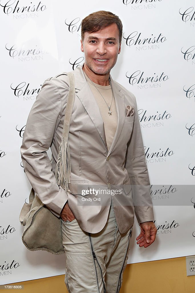 Fashion designer Loris Diran attends the Christo Men NYC Press Preview at Christo Fifth Ave on July 15, 2013 in New York City.