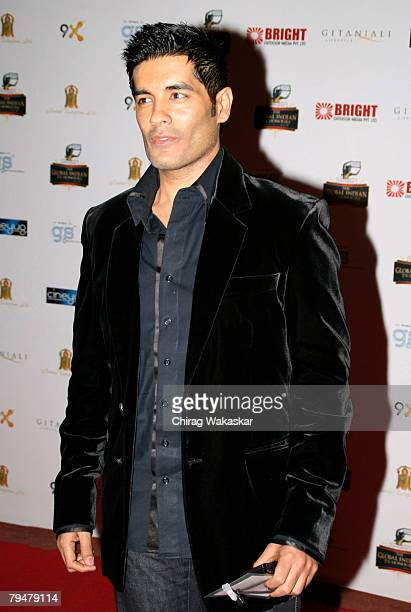Fashion Designer Manish Malhotra arrives for the 'The Global Indian TV Honours' held at Andheri Sports Complex February 01 2008 in Mumbai India