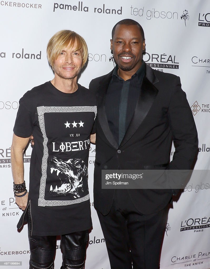 Fashion designer Marc Bouwer and celebrity hairstylist Ted Gibson attend the Ted Gibson's 50th birthday celebration at the Knickerbocker Hotel...