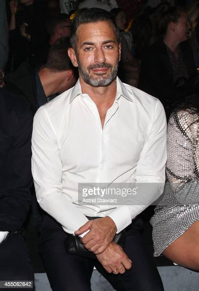 Fashion designer Marc Jacobs attends the Marc By Marc Jacobs Spring 2015 Front Row at Pier 94 during MercedesBenz Fashion Week Spring 2015 on...