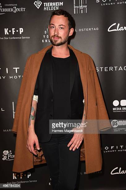 Fashion designer Marcel Ostertag during the 'Marcel Ostertag Charity Fashion Show 2015' at Sofitel Munich Bayerpost on November 11 2015 in Munich...