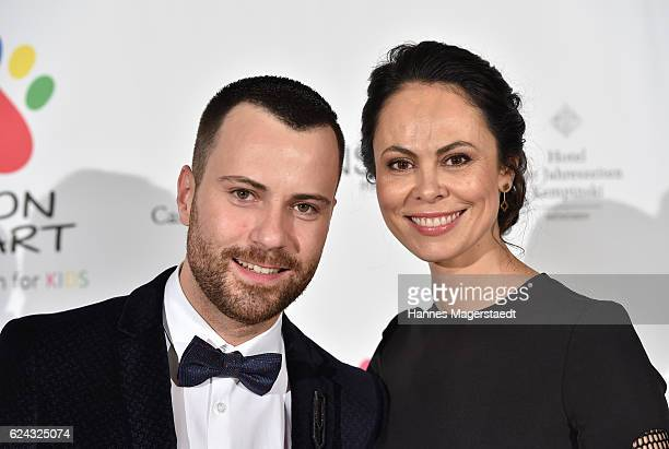 Fashion designer Marcell von Berlin and Natalia Klitschko during the charity dinner hosted by the Leon Heart Foundation at Hotel Vier Jahreszeiten on...