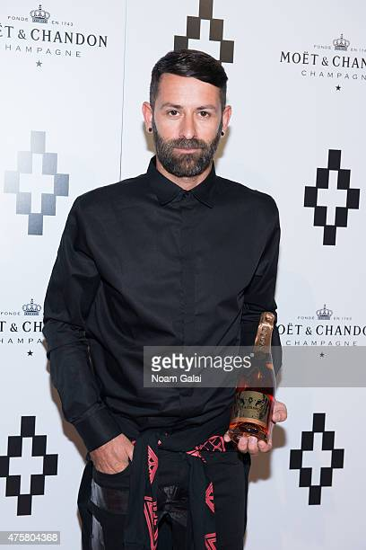 Fashion designer Marcelo Burlon attends the Moet Nectar Imperial Rose x Marcelo Burlon Launch Event at Cipriani Downtown on June 3 2015 in New York...