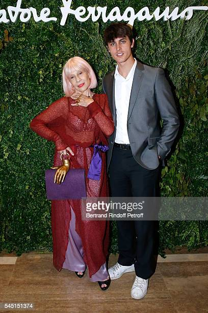 Fashion designer Marie Beltrami and her associate Gwen Pauls attend the Re Opening of Salvatore Ferragamo Boutique at Avenue Montaigne on July 5 2016...