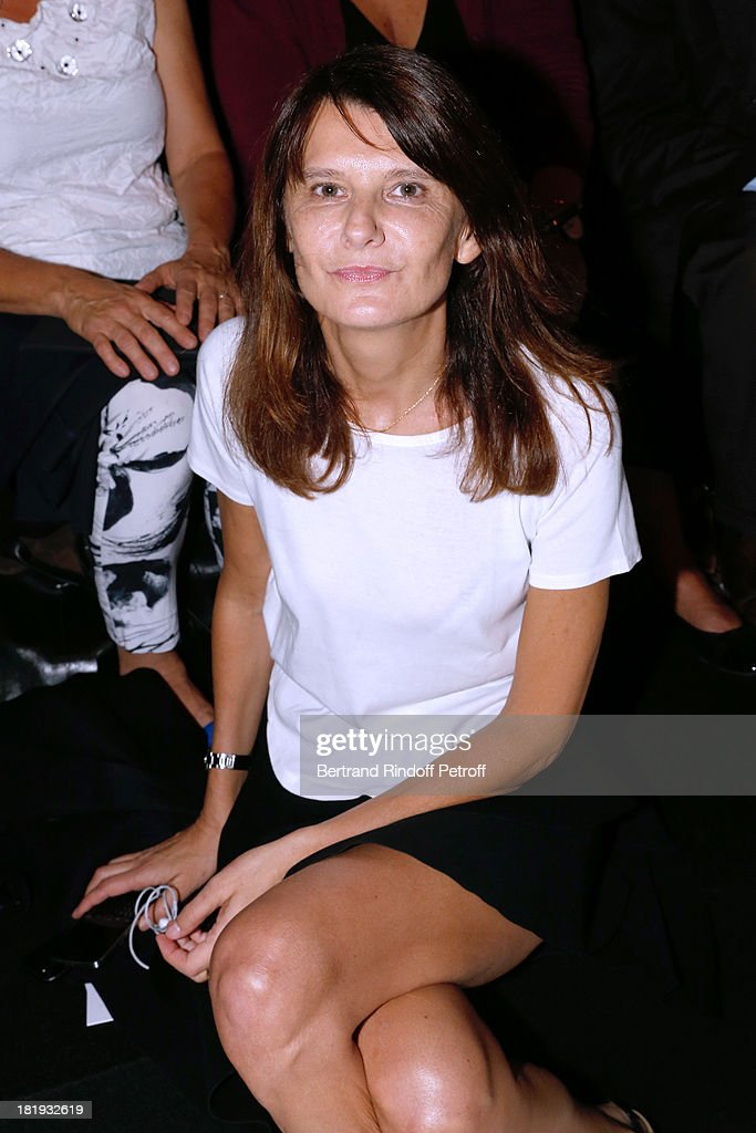Fashion designer Marie-Amelie Sauve attends Nina Ricci show as part of the Paris Fashion Week Womenswear Spring/Summer 2014, held at Garden of Tuilleries on September 26, 2013 in Paris, France.