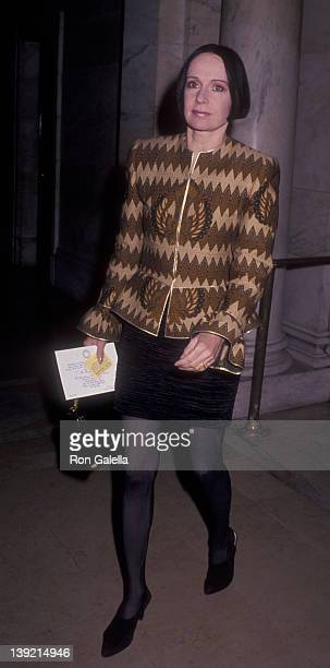 Fashion Designer Mary McFadden attends Montblanc de la Culture Luncheon on April 21 1992 at the New York Public Library in New York City