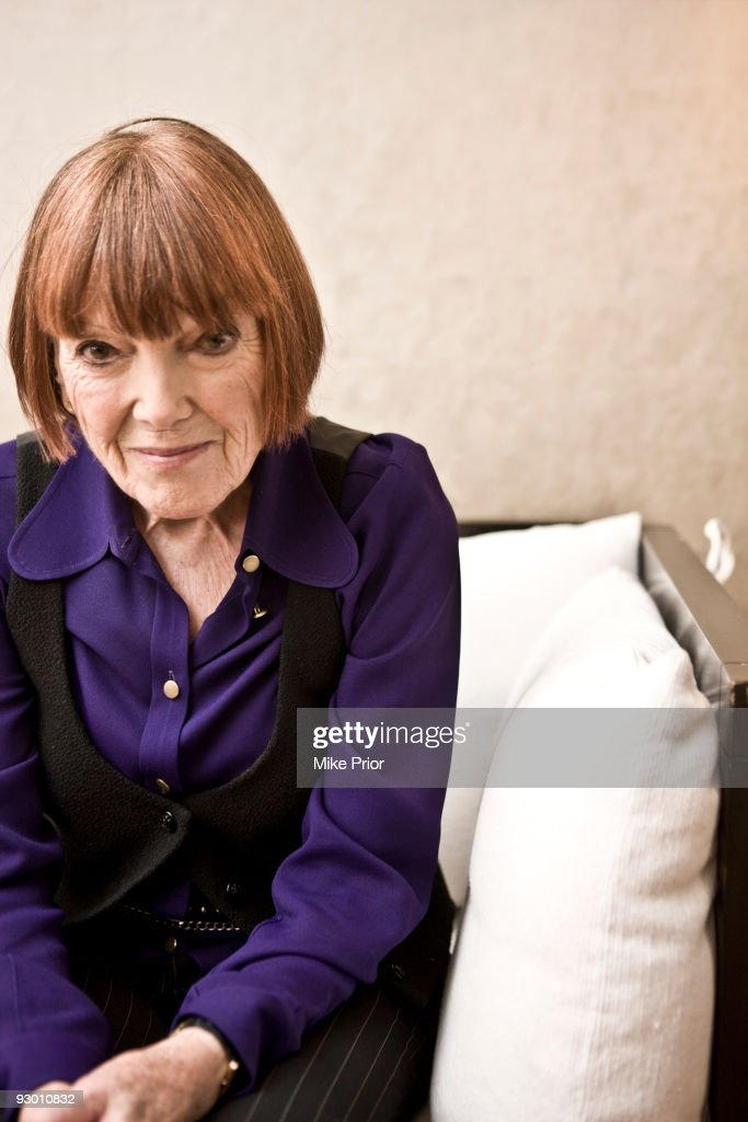 Fashion designer Mary Quant poses for a portrait session in 2009 in London.