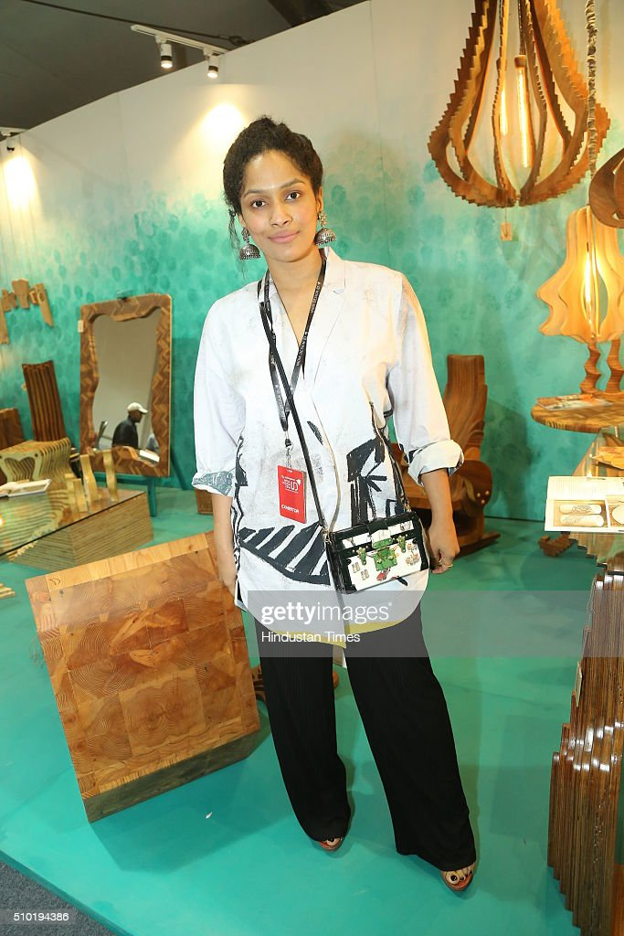 Fashion designer Masaba Gupta during the preview party of India Design ID 2016 on February 11, 2016 in New Delhi, India. India Design ID is the paramount platform for a new generation of designers. It witnesses the participation of top-notch global design brands, architects and interior designers.