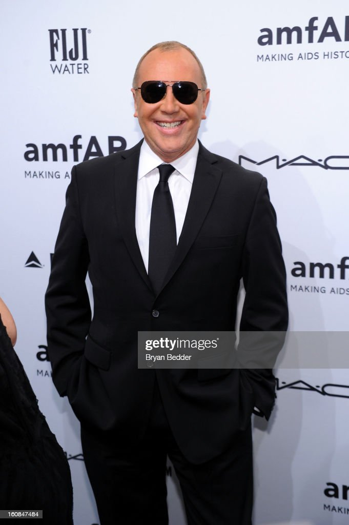 Fashion designer Michael Kors attends the amfAR New York Gala to kick off Fall 2013 Fashion Week at Cipriani Wall Street on February 6, 2013 in New York City.