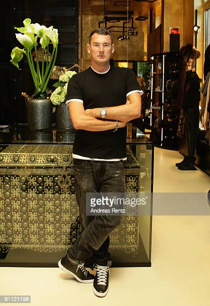 Fashion designer Michael Michalsky poses for a portrait at Michalsky Gallery on September 24 2009 in Berlin Germany