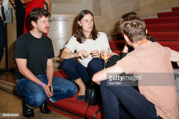 Fashion designer Michael Sontag and guests during the European Fashion Award FASH at Bode Museum on July 03 2017 in Berlin Germany