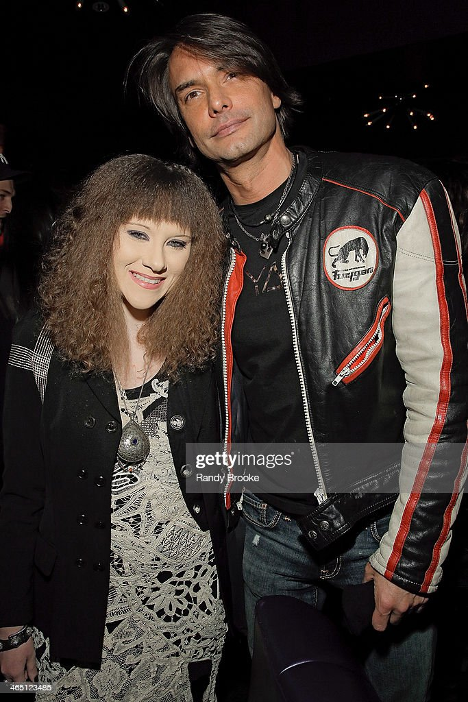 Fashion Designer Mimi Prober and Model/Actor and TV personality Marcus Schenkenberg attend Supermodel Saturdays at No 8 on January 25 2014 in New...