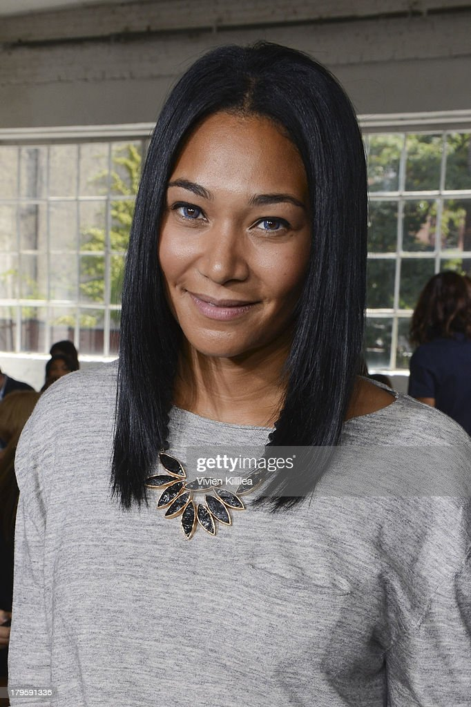 Fashion designer Monique Pean attends the Tanya Taylor fashion show during Mercedes-Benz Fashion Week Spring 2014 at Industria Studios on September 5, 2013 in New York City.