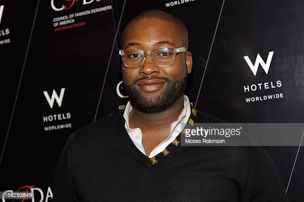 Fashion Designer Mychael Knight attends the CFDA cocktail party at W Atlanta Buckhead with designers Daniel Vosovic WHIT Burkman Brothers and...
