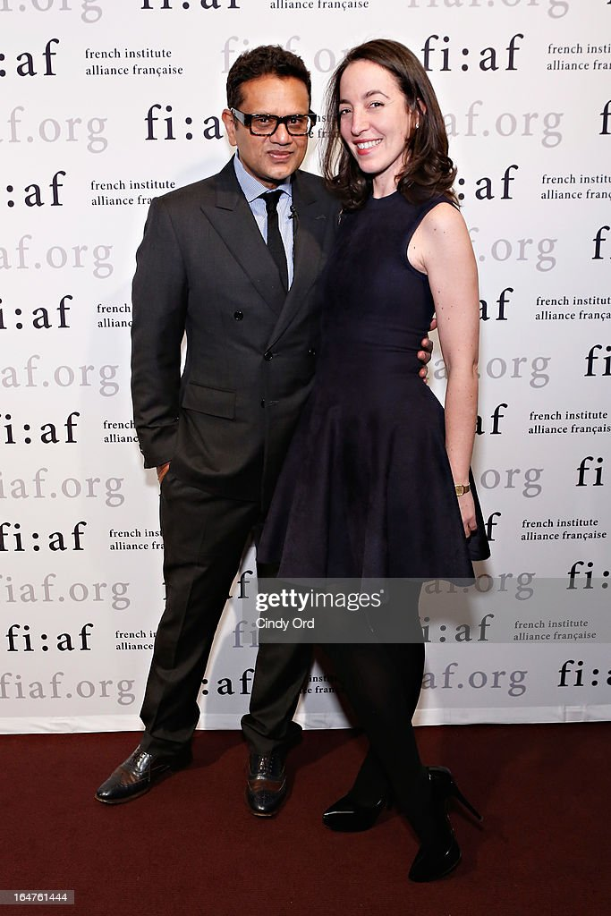 Fashion designer Naeem Khan and Chief Curator of Fashion and Textiles at Les Arts Decoratifs in Paris, Pamela Golbin attend Fashion Talks 2013 Presents: Naeem Khan at Florence Gould Hall on March 27, 2013 in New York City.