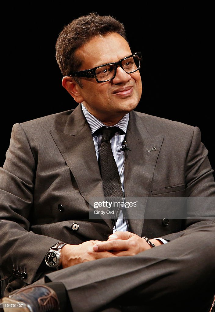Fashion designer Naeem Khan takes part in Fashion Talks 2013 Presents: Naeem Khan at Florence Gould Hall on March 27, 2013 in New York City.