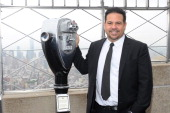 Fashion Designer Narciso Rodriguez visits the Empire State building on October 11 2013 in New York United States