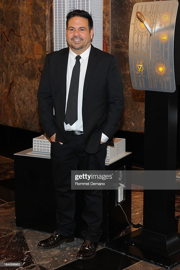 Fashion Designer Narciso Rodriguez visits the Empire State building on October 11, 2013 in New York, United States.