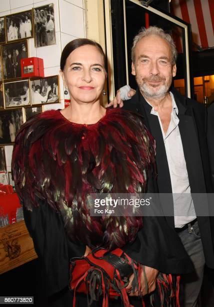 Fashion designer Nathalie Garcon and her husband Jean Marie Duprez attend the 'Boeuf A la Mode' Dinner Hosted by Les Artisans Bouchers de Paris et...