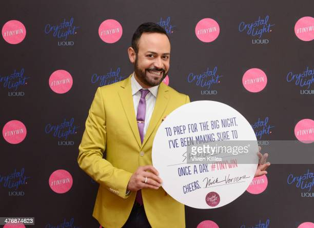 Fashion designer Nick Verreos attends Crystal Light Liquid And Giuliana Rancic Toast Oscars at SLS Hotel on March 5 2014 in Beverly Hills California