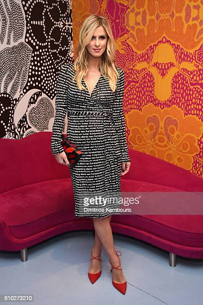 Fashion designer Nicky Hilton poses during Diane Von Furstenberg Fall 2016 during New York Fashion Week on February 14 2016 in New York City