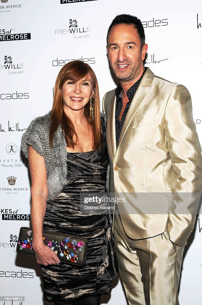 Fashion designer Nicole Miller and Decades Co-Owner Christos Garkinos attend the 'Dukes Of Melrose' Premiere at 583 Park Avenue on March 5, 2013 in New York City.