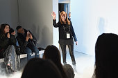 Fashion designer Nicole Miller walks the runway during the Nicole Miller Fall 2016 fashion show during New York Fashion Week The Shows at The Gallery...