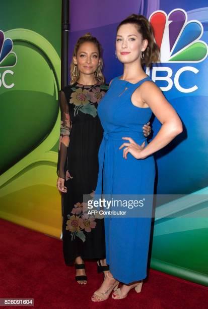 Fashion designer Nicole Richie and actress Briga Heelan attend NBC TCA Summer Press Tour 2017 on August 3 in Beverly Hills California / AFP PHOTO /...