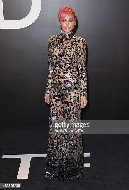 Fashion designer Nicole Richie arrives at the Tom Ford Autumn/Winter 2015 Womenswear Collection Presentation at Milk Studios on February 20 2015 in...