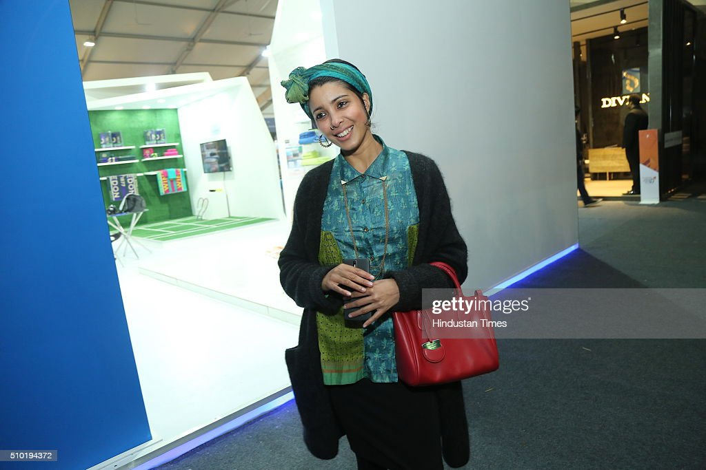 Fashion designer Nida Mahmood during the preview party of India Design ID 2016 on February 11, 2016 in New Delhi, India. India Design ID is the paramount platform for a new generation of designers. It witnesses the participation of top-notch global design brands, architects and interior designers.