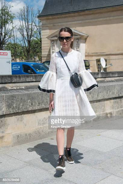 Fashion designer of clothing brand Anna K Anna Karenina wears an Anna K dress Celine sunglasses Louis Vuitton trainers and a Marc Jacobs bag day 2 of...