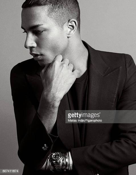Fashion designer Olivier Rousteing is photographed for Madame Figaro on October 1 2015 in Paris France PUBLISHED IMAGE CREDIT MUST READ Matias...