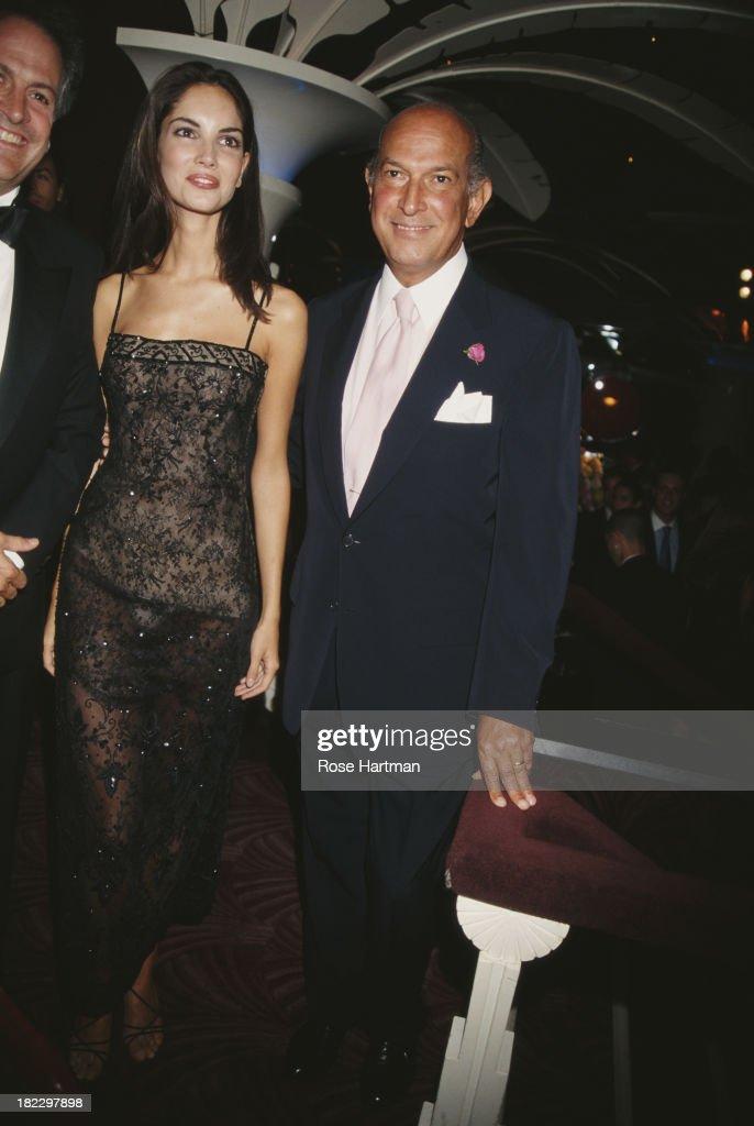 Fashion designer Oscar de la Renta and Spanish model Eugenia Silva circa 1997