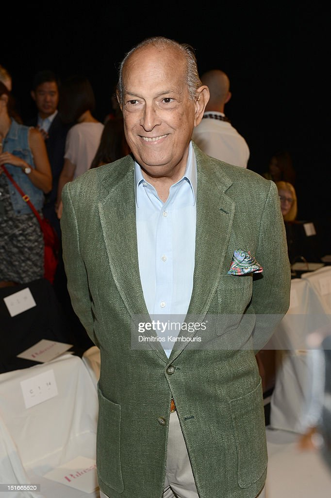 Fashion designer Oscar De La Renta attends the Diane Von Furstenberg Spring 2013 fashion show during Mercedes-Benz Fashion Week at The Theatre at Lincoln Center on September 9, 2012 in New York City.