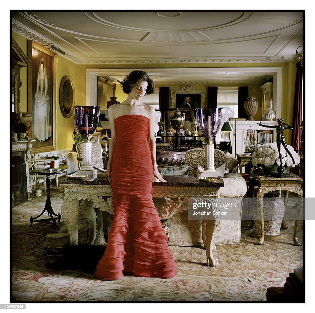 Oscar De La Renta Home oscar de la renta and eliza bolen, vanity fair - spain, october 1