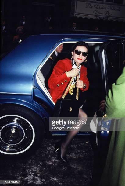 Fashion designer Paloma Picasso in 1989 ca in London England