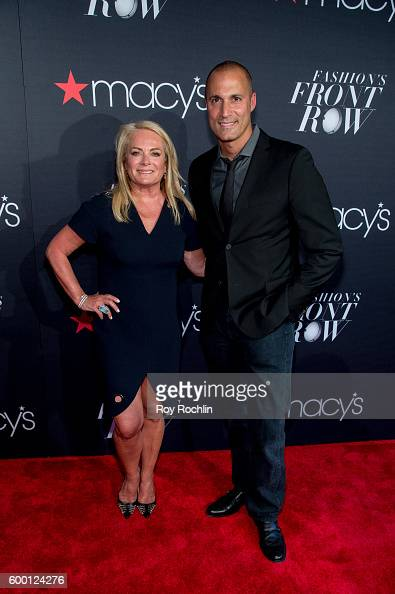 Fashion designer Pamella Roland and photographer Nigel Barker attend Macy's Presents Fashion's front row during 2016 New York Fashion Week at The...