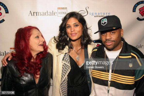 Fashion designer Patricia Field Rachel Roy and her husband Damon Dash attend the Launch of Patricia Field for the House of Rocawear party during...