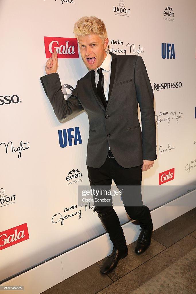 Fashion designer Patrick Ascher during the 'Berlin Opening Night of GALA & UFA Fiction' at Das Stue Hotel on February 11, 2016 in Berlin, Germany.