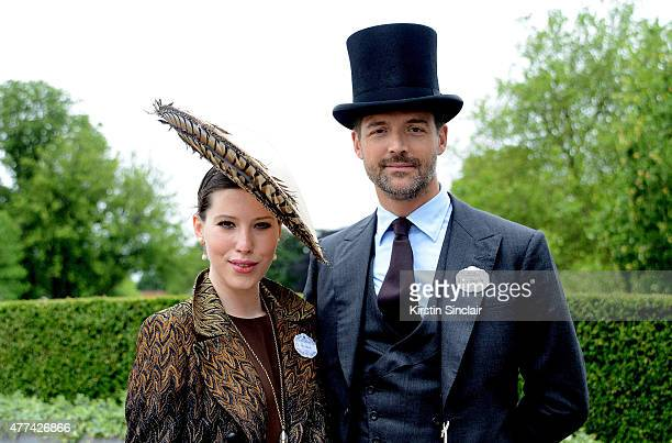 Fashion designer Patrick Grant and Lily Lewis attend Royal Ascot 2015 at Ascot racecourse on June 17 2015 in Ascot England