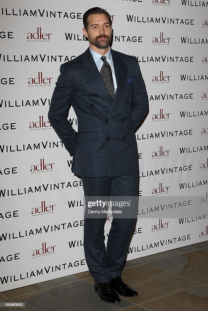 Fashion designer Patrick Grant attends the WilliamVintage Dinner Sponsored By Adler at St Pancras Renaissance Hotel on February 8, 2013 in London, England.