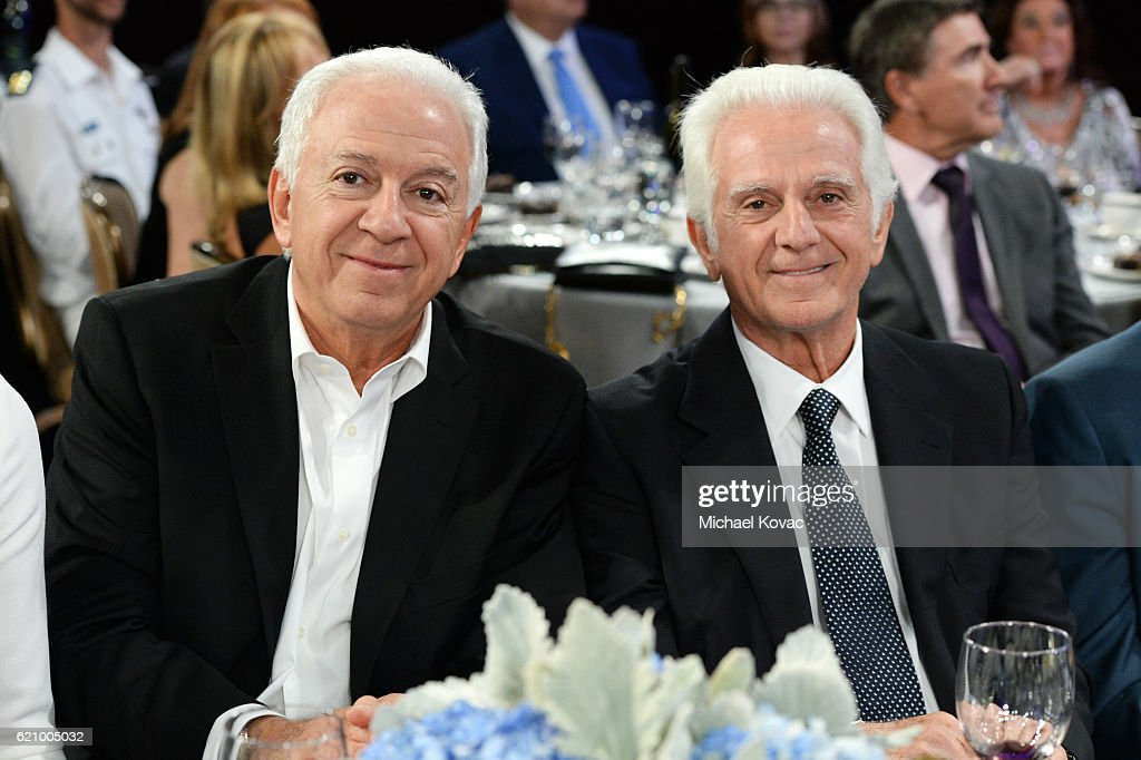 Fashion designer Paul Marciano (L) and businessman Maurice Marciano attend Friends Of The Israel Defense Forces Western Region Gala at The Beverly Hilton Hotel on November 3, 2016 in Beverly Hills, California.