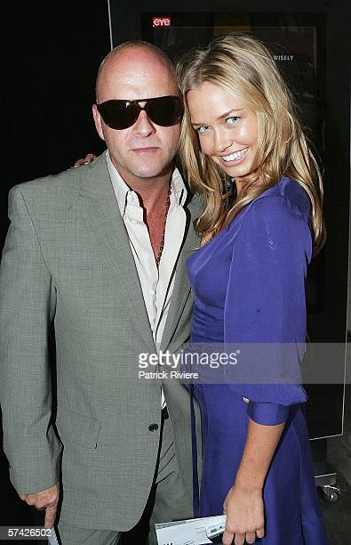 Fashion designer Peter Morrissey and model Lara Bingle attend the Jayson Brunsdon collection show in the Overseas Passenger Terminal during Mercedes...
