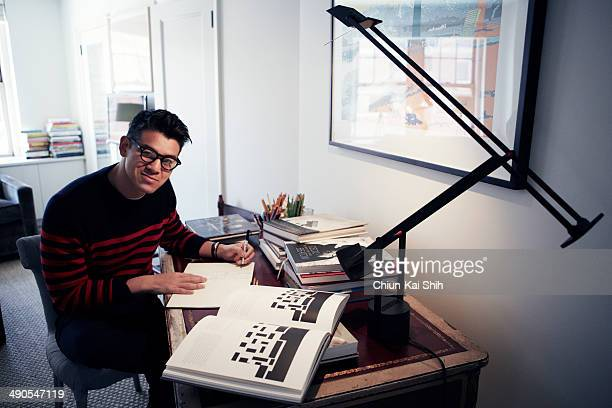 Fashion designer Peter Som is photographed for Jessica Magazine on February 17 2014 in New York City