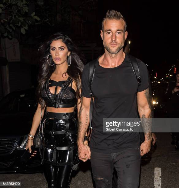 Fashion designer Philipp Plein and Andreea Sasu are seen leaving the Philipp Plein fashion show during New York Fashion Week The Shows at Hammerstein...