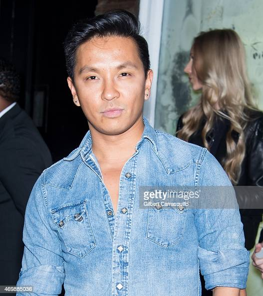 Fashion designer Prabal Gurung is seen arriving to the 2015 Tiffany Blue Book dinner at ABC Kitchen on April 15 2015 in New York City